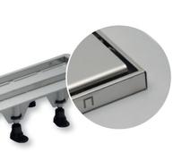 Linijska resetka kanal PVC+INOX suva L655 steel SZE5651