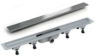 Linijska resetka kanal PVC+INOX L-390*2