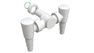 Sifon za VES MASINU dupli - PVC beli nazidi Bonomini *3590GZ24B0