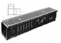 Kanal SDrain B125 100/100x1m sa pocinkovanom resetkom *5101010551BZ