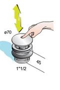 PILETA - odliv za tus kadu KLIK-KLAK OMP *540.060.6