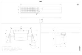 Kanalica kuhinjska 200x1000 DN11