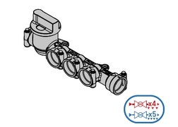 TECO razvodni ventil mono za H vodu 1 ventil 5 izlaza DN15 *K4025F19900