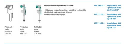 Plovak PVC za kotlic GEBERIT Impuls 330 *136700003