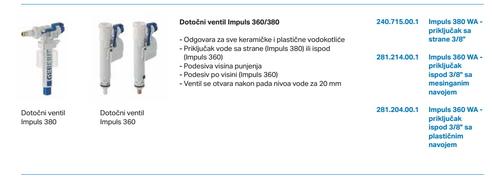 Plovak MS za kotlic GEBERIT donji ulaz *281214001