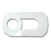Podna guma za WC solju - bela (cetvrtasta)