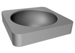 INOX lavabo polugradni Quadra Senda
