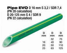 """TUB 100 cev 4"""" EVO PP-RCT PN22 (cena cevi je po m duznom)"""